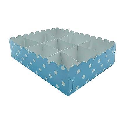 Kadisa Bandeja Modular 9 Compartimientos de Cartón 1U para Mesas Dulces, Celebraciones, Cumpleaños, Bodas, Comuniones, Fiestas, Candy Bar (Lunares ...