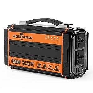 Rockpals K36 240Wh AC出力250W ポータブル電源