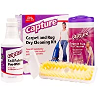 Capture Carpet Dry Cleaning Kit 100 - Deodorize Clean Stains Smell Moisture from Rug Couch Wool and Fabric, Pet Stain…