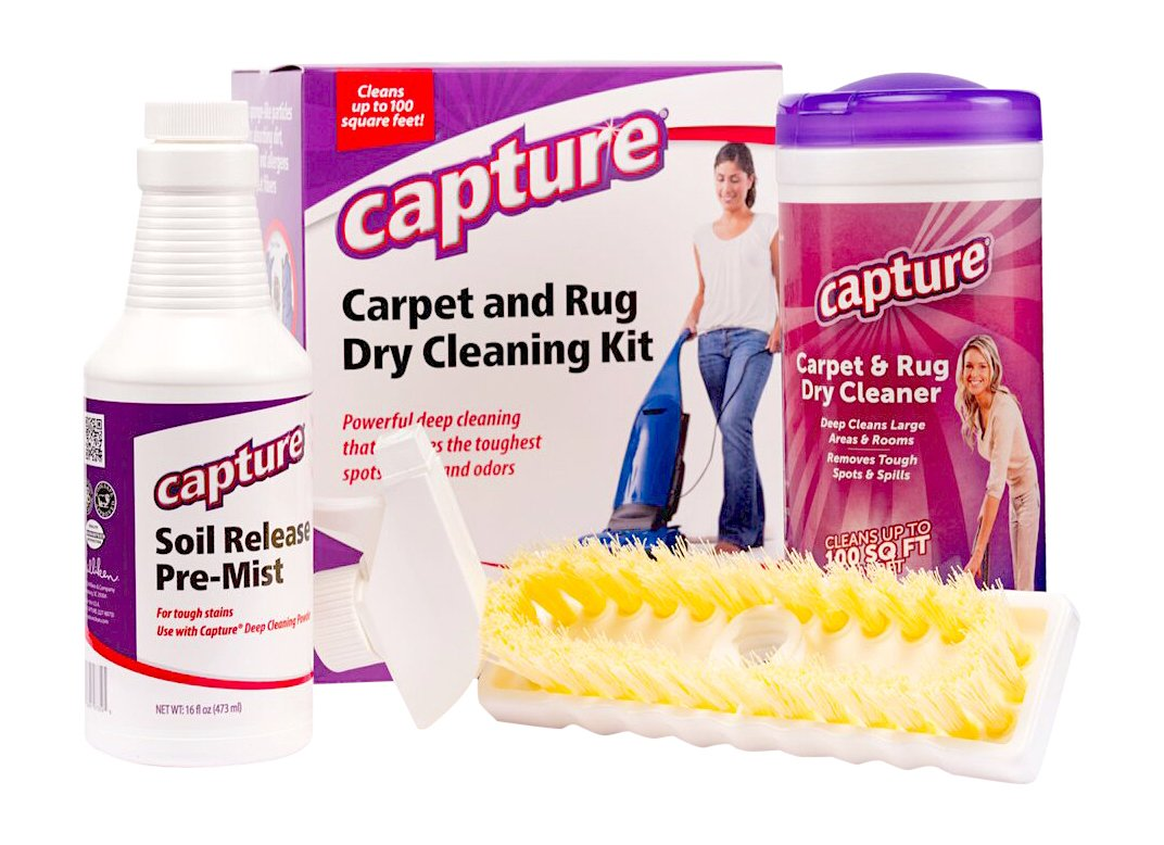 Capture Carpet Dry Cleaning Kit 100 - Resolve Allergens Stain Smell Moisture from Rug Furniture Clothes and Fabric, Mold Pet Stains Odor Smoke and Allergies Too 300000484