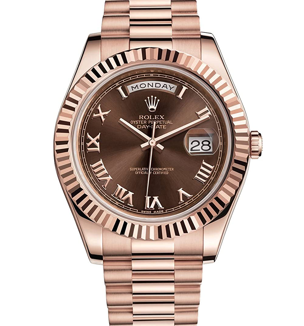 Rolex Day Date Ii 41 President Everose Gold Watch Chocolate Dial 218235