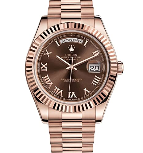 Rolex Day-Date II 41 Presidente Everose Oro Reloj marrón Dial 218235: Rolex: Amazon.es: Relojes