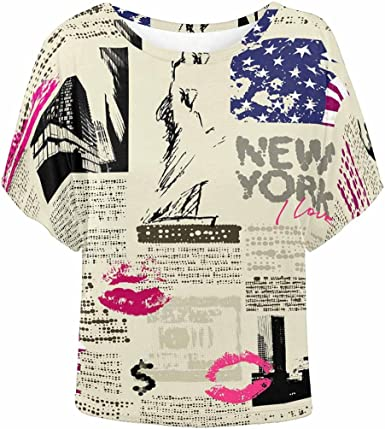 INTERESTPRINT Childs T-Shirt Newspaper with Music Lettering XS-XL