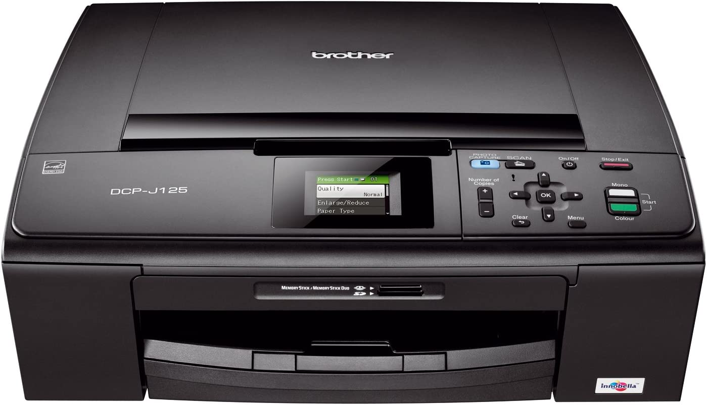 Brother DCP-J125 - Impresora multifunción de tinta color (23 ppm ...