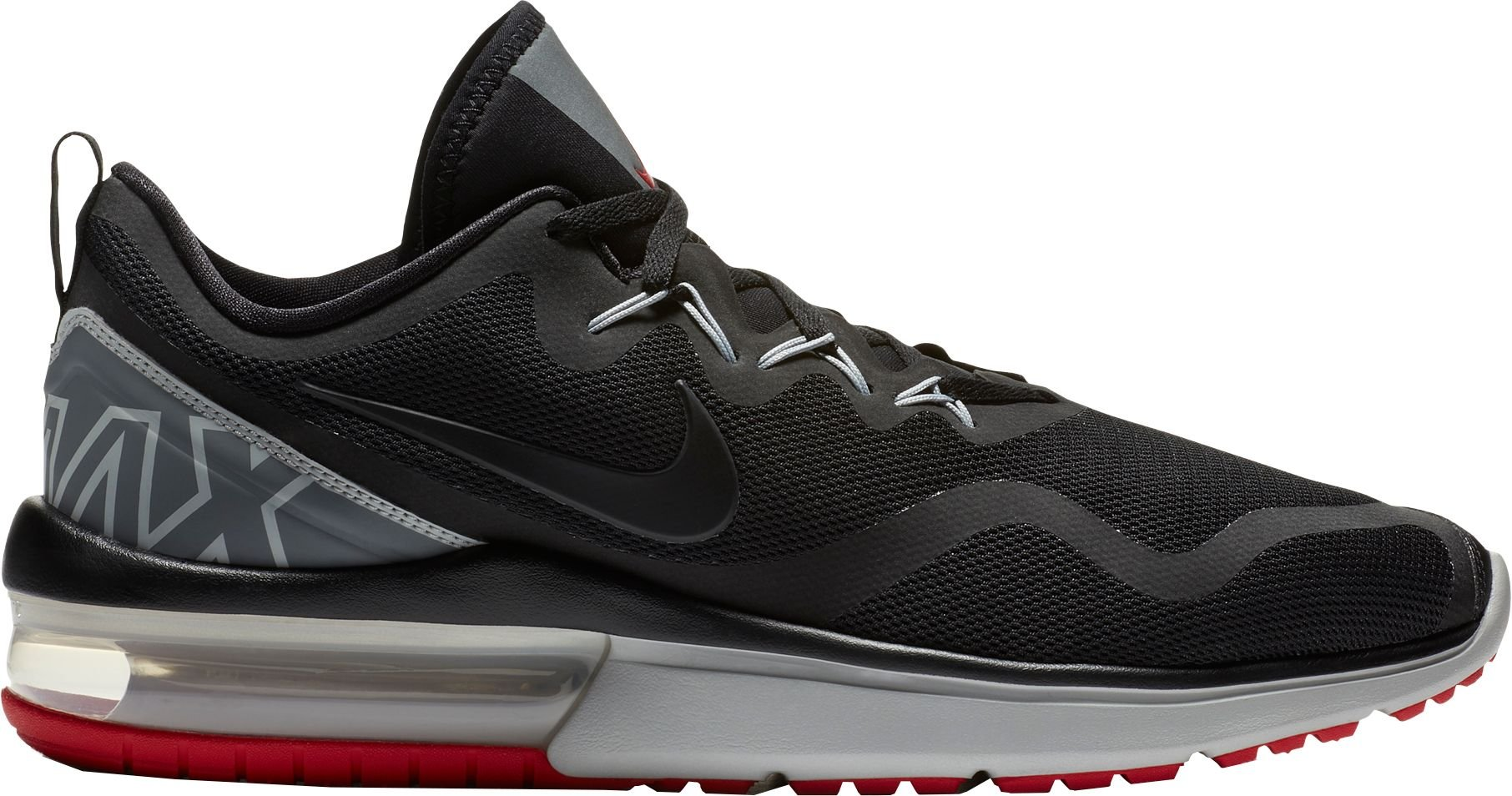 c0fb075759fc14 Galleon - Nike Mens AIR MAX Fury Black Grey RED Size 11