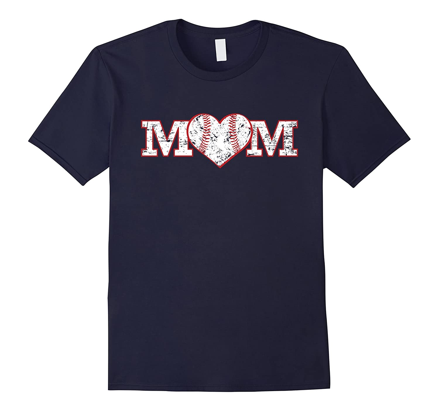 Baseball Mom Softball Heart Shirt Mother Gift Mama-TH