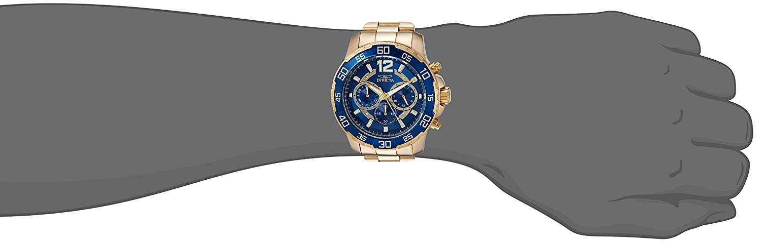 Invicta Men s Pro Diver Quartz Watch with Stainless-Steel Strap, Gold, 22 Model 22714