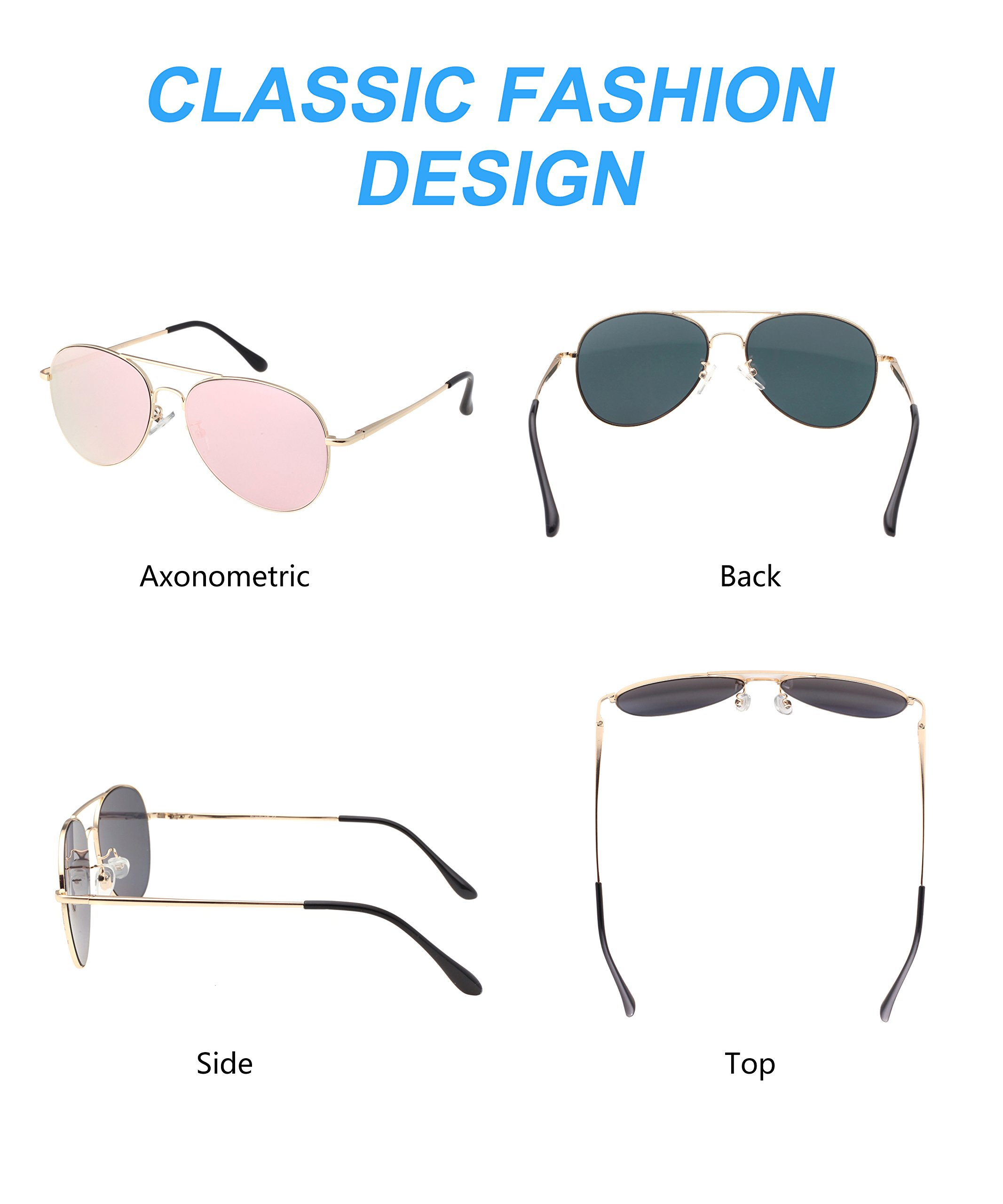 PUKCLAR Fashion Metal Frame Sunglasses for Men and Women Anti UV Anti Glare
