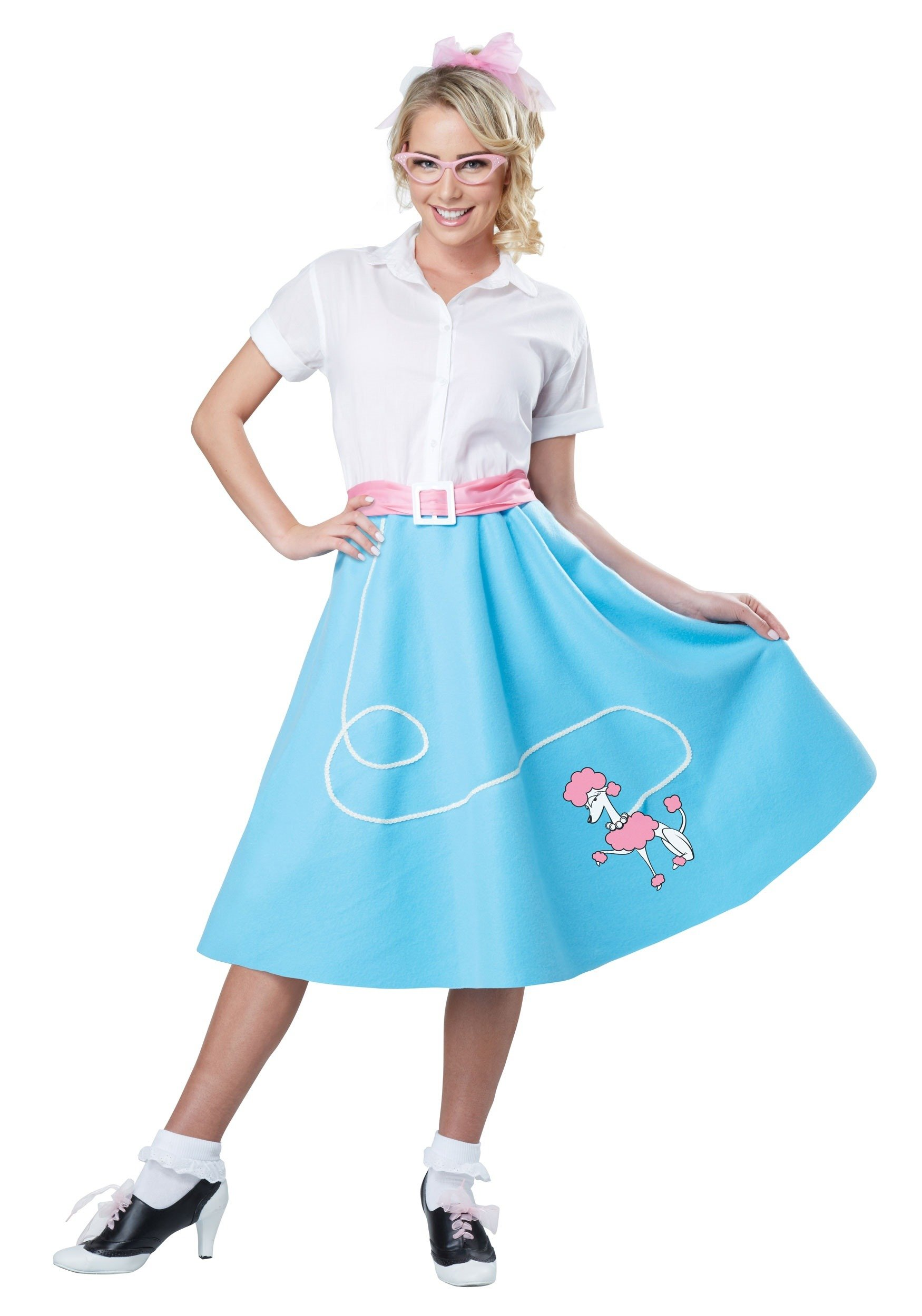 California Costumes Women's 50'S Poodle Skirt Adult Woman Costume, Blue, Extra Small