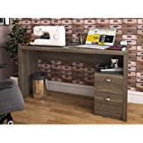 Tecnomobili Office Table with 2 Drawers, Oak 74.5 x 135.8 x 46.5 cm