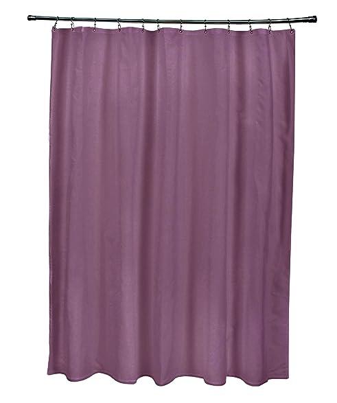 Ebydesign SSO N72 Plum Solid Shower Curtain Purple