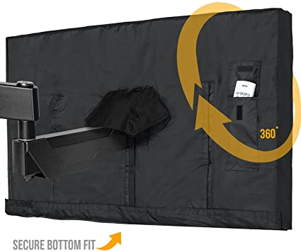 Outdoor TV Cover 40   43 Inch LED Flatscreen TV With Bottom Cover |  Weatherproof And