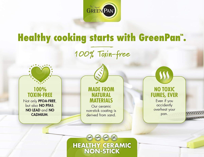 GreenPan CC000028-001  Paris 10 Inch Ceramic Non-Stick Fry Pan Gray