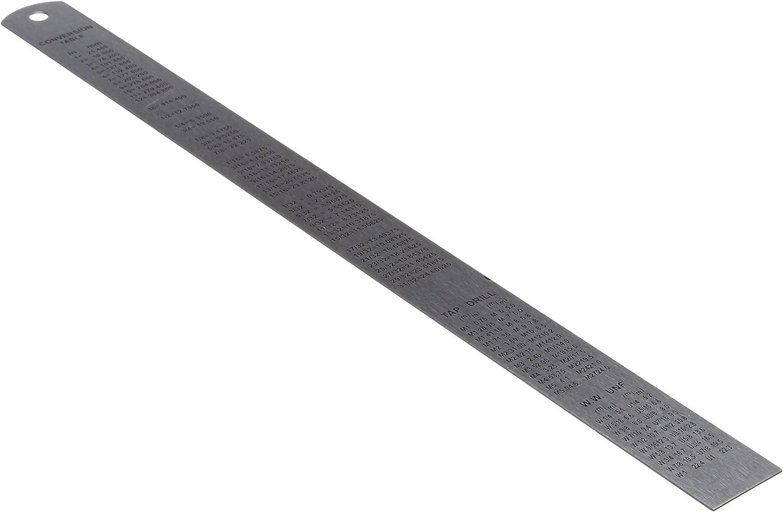 0,5 mm /& 1//64 Pouce GRADUA Imperial 300mm précision en acier inoxydable règle-métriques
