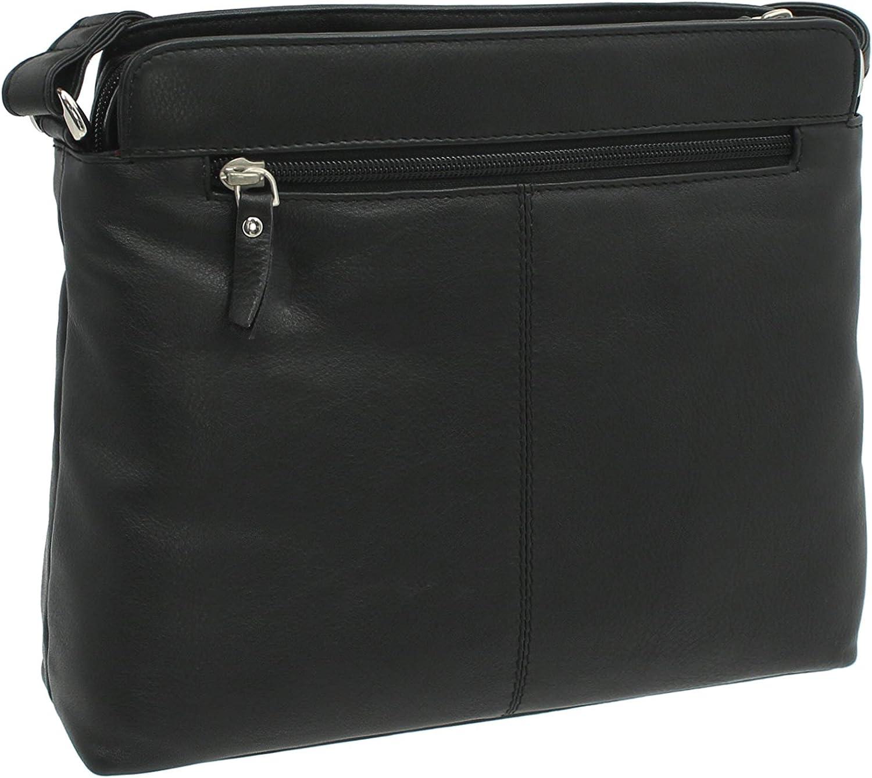 Ashlie Craft Leather Shoulder Bag Style AC8200 Black