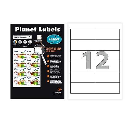 Laser//Inkjet 2x6 Etiketten 6.000 Etiketten 97 x 42,3 mm auf 500 DIN A4 Bögen