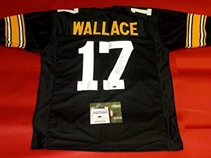 Mike Wallace Autographed Pittsburgh Steelers Throwback