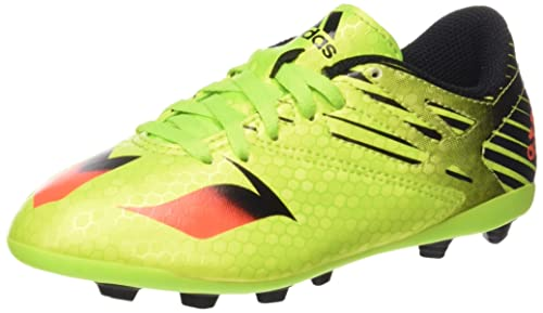 adidas Messi 15.4 in, Chaussures de Football Homme, Jaune (Semi Solar Slime/Solar Red/Core Black), 44 2/3 EU