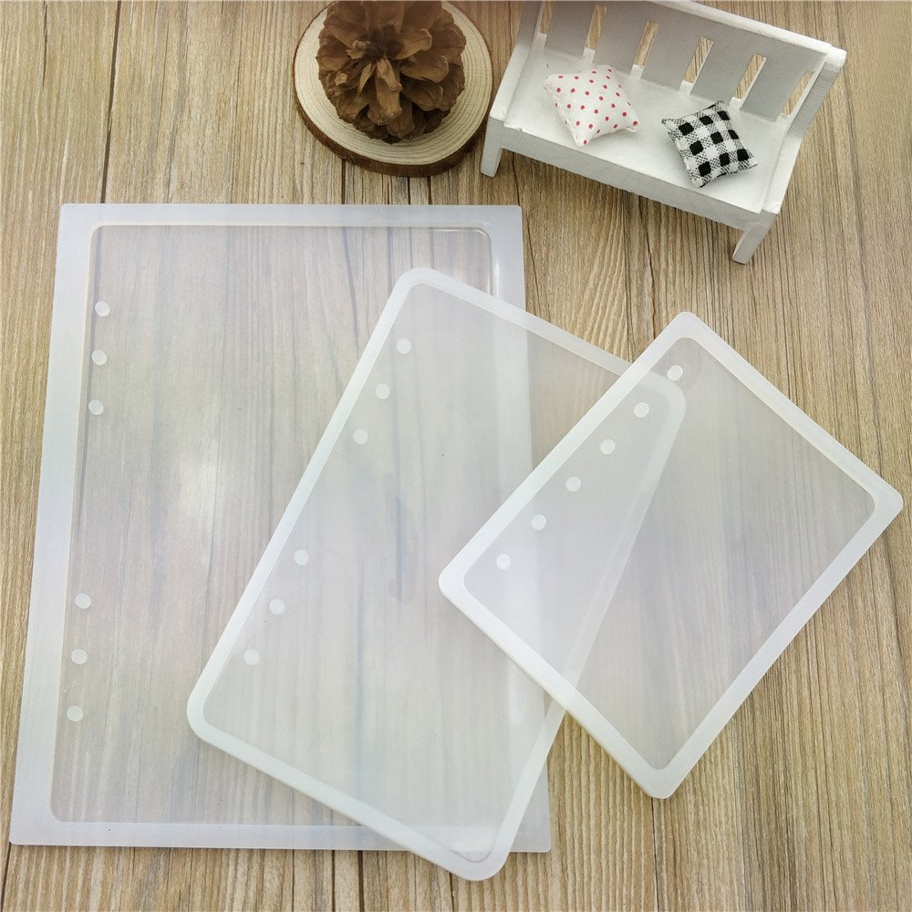 DIY Craft Making,Semi-Transparent Mould Q204-Q121-010085 3 Pcs//Set Notebook Silicone Molds Notebook Mold with Resin Epoxy