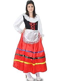 b3f078ea8910 Pegasus Vestito Costume Maschera di Carnevale - Tarantella Lunga Donna -  Adulti - Taglia S -