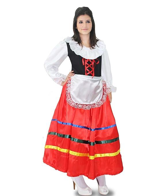 Pegasus Vestito Costume Maschera di Carnevale Tarantella Lunga Donna Adulti Taglia XL 5254 Donna