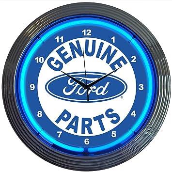Amazoncom Neonetics Ford Genuine Parts Neon Wall Clock 15Inch