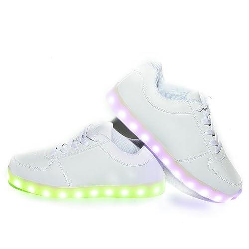 WildFire Zapatillas luces led para niños niñas color Blanco para recargable Con certificado CE Envio ASM