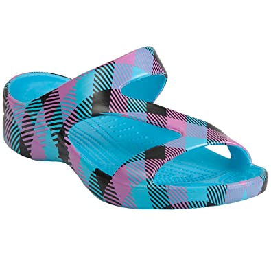 Dawgs Loudmouth Women'S Flip Flops Pink And Black Tile 8 M Us iudY35c