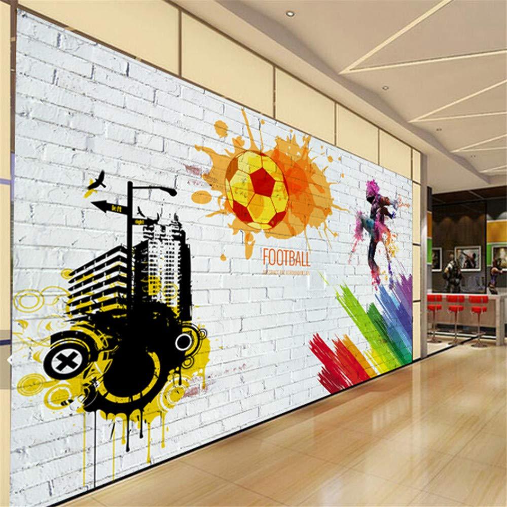 Pbldb Custom Wall Mural Brick Wall City Graffiti Football Basketball Large Murals Bar Restaurant Living Room Decor Non-Woven Wallpaper-400X280Cm by Pbldb (Image #4)