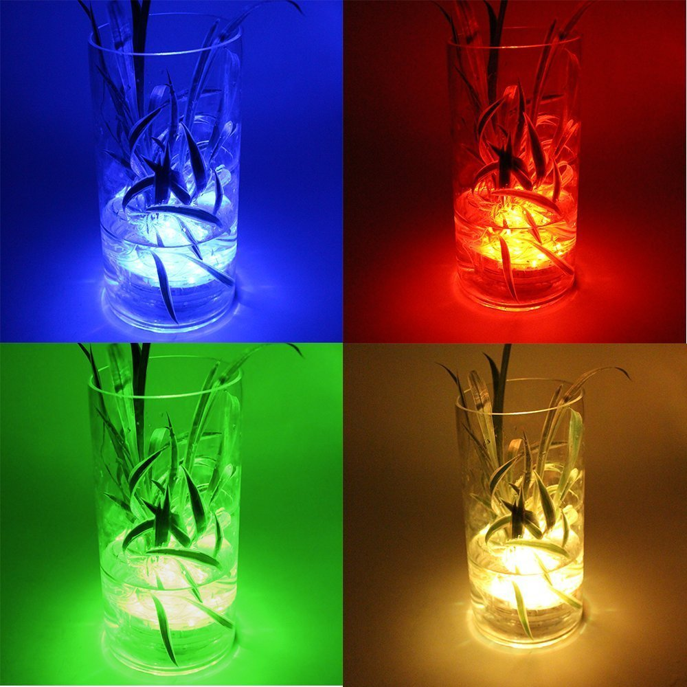 Amazon.com: Wuudi LED Multi Color Remote Controlled Waterproof ...