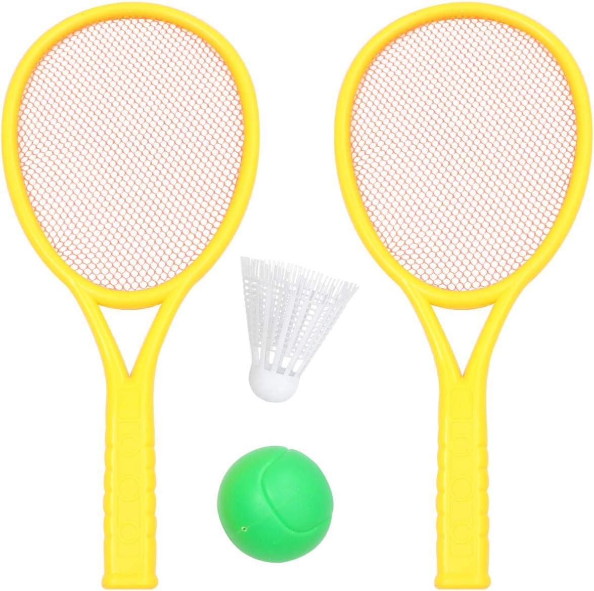 Plastic Badminton Tennis Rackets Balls Set,Kids Racket Wakauto Kids Tennis Racket Set