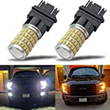 iBrightstar Newest Super Bright 3157 4157 3155 3457 Switchback LED Bulbs with Projector Replacement for Daytime Running…