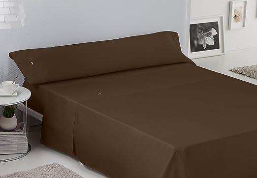 ESTELA - Juego de sábanas Lisos BIÉS 200 Hilos Color Chocolate (3 Piezas) - Cama de 105 cm. - 100% Algodón - 200 Hilos: Amazon.es: Hogar