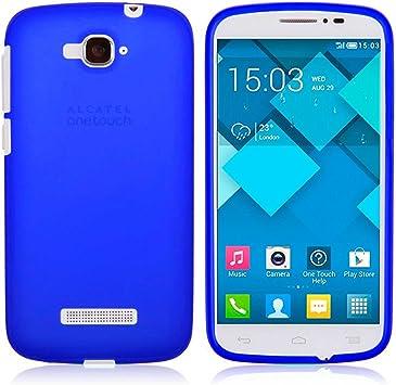 TBOC® Funda de Gel TPU Azul para Alcatel One Touch Pop C7 de Silicona Ultrafina y Flexible: Amazon.es: Electrónica