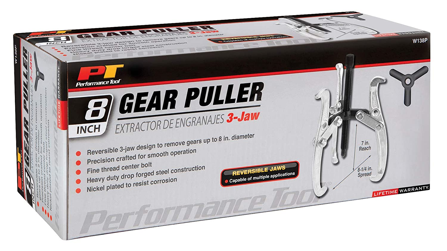 """Performance Tool 4/"""" 3 Jaw Gear Puller W136P"""
