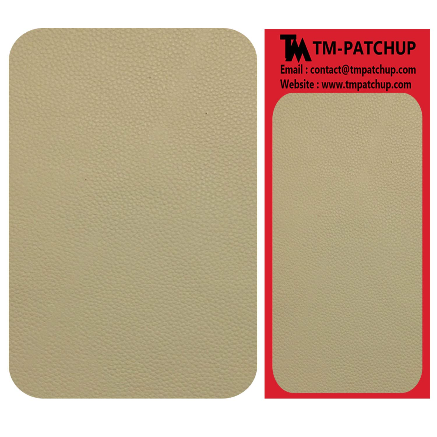 TMgroup, Leather Couch Patch, Genuine Faux Leather Repair Patch, Peel and Stick for Sofas, car Seats, Hand Bags,Furniture, Jackets, Large Size 8-inch x 11-inch (Medium Beige)