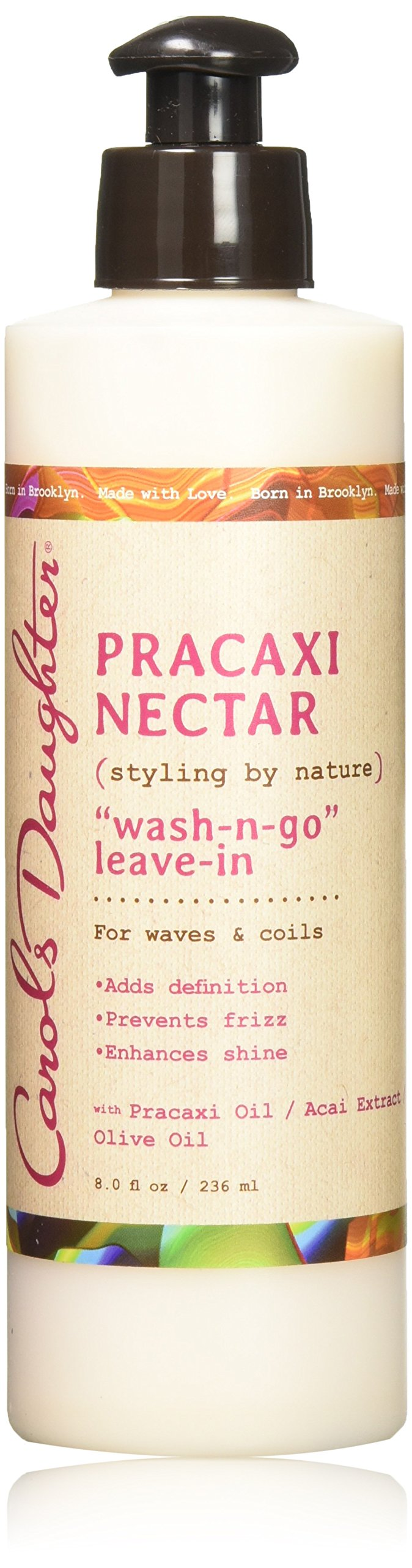 Carol's Daughter Pracaxi Nectar Wash-n- Go Leave-In, For All Hair Types, 8 fl oz (Packaging May Vary)