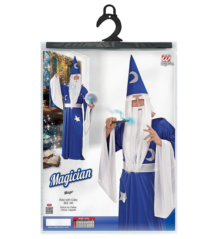 WIDMANN Mago Tunica Con Collare Cintura Cappello Costumi Completo Adulto 547