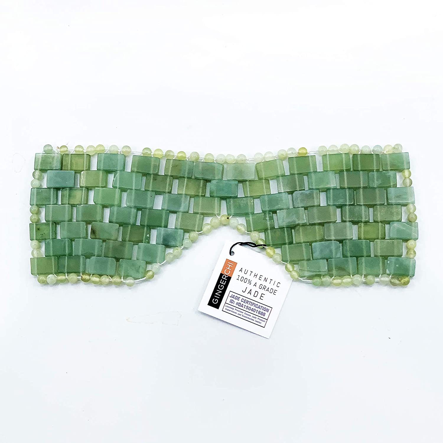 Natural 100% Jade Stones Anti-Aging Facial Sleeping Eye Mask Hot or Cold Therapy Blindfold for Puffy Eyes, Dark Circles Headache, Migraine Relief and Soothe Eye Fatigue Beauty Skincare Massage Tool Remove wrinkles