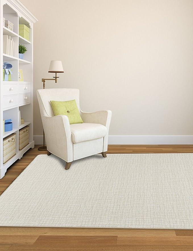 Amazon Com Imagine Bartack Graphite Solid Waves 2 8 X 3 10 Milliken Area Rug 6429 By Ruglots Furniture Decor