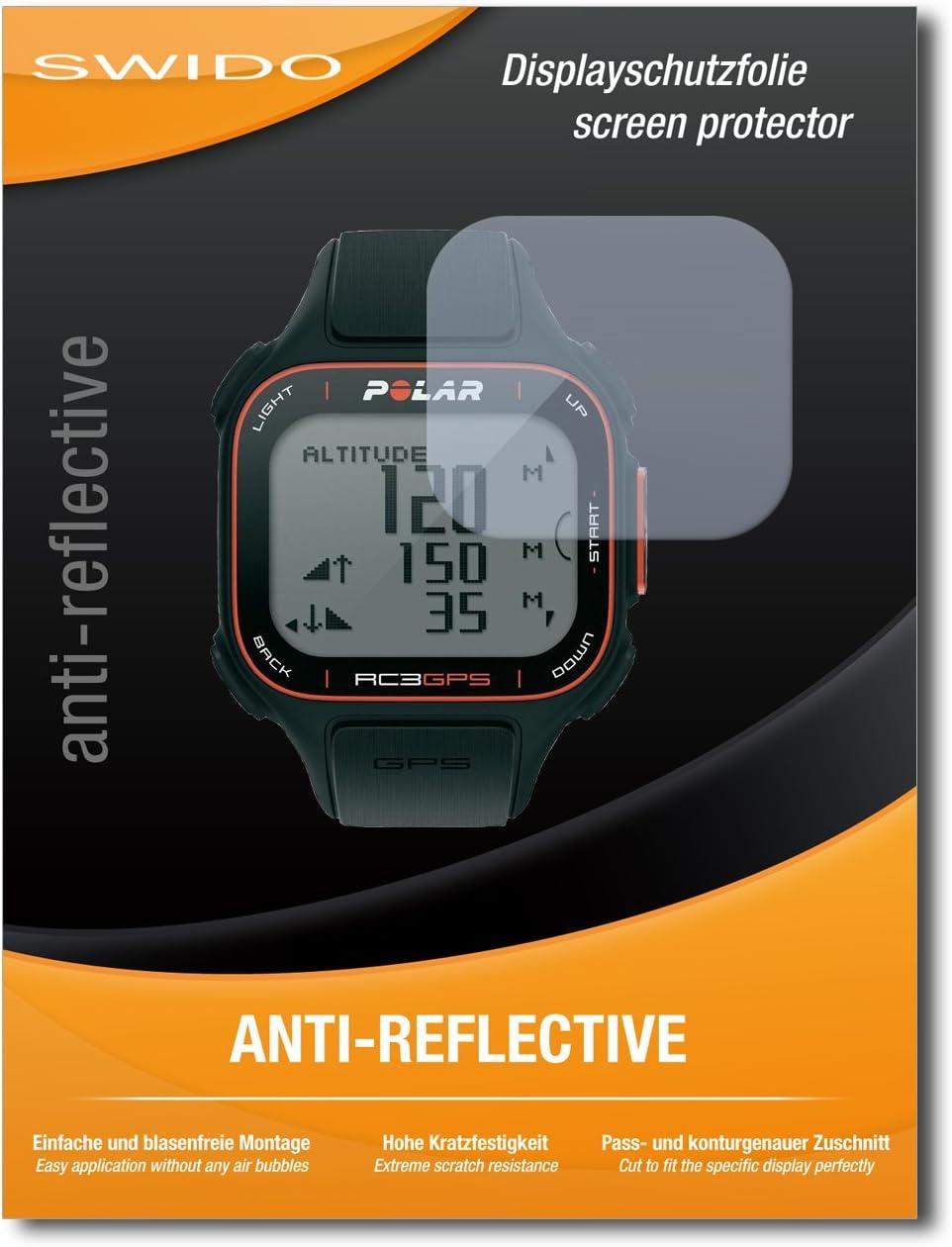 4 x SWIDO® Protector de pantalla Polar RC3 GPS Protectores de pantalla de película