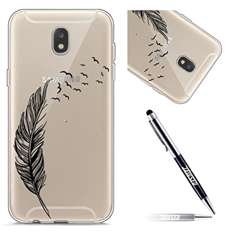Funda Samsung Galaxy J7(2017) J730F, Carcasa Samsung Galaxy J7 2017 (Versión EU) J730, JAWSEU Samsung Galaxy J7 2017 J730F Carcasa Caso Cover Creativa ...
