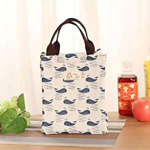 Lunch Box,IEason Clearance Sale! Insulation Package Portable Waterproof Canvas Lunch Bags Lunch With Rice (A)