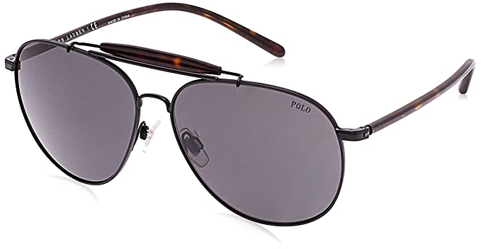 Ralph Lauren POLO 0PH3106 Gafas de sol, Semi Shiny Black, 60 para ...