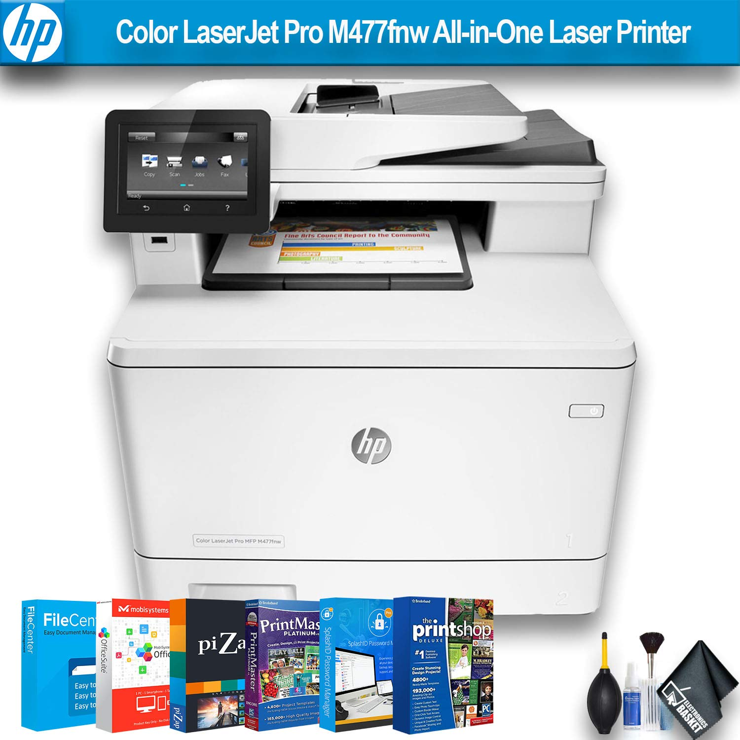 HP Color Laserjet Pro M477fnw All-in-One Laser Printer (CF377A) W/Printer Essentials Software by HP (Image #1)