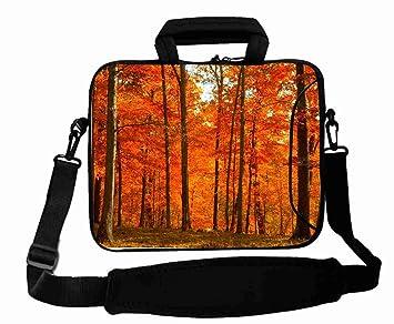 Personalizado con (Árbol Bosque Natural Scenery) correas de bolsa de ordenador portátil (desmontable