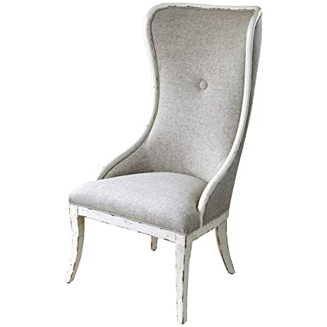 uttermost 23218 selam aged wing chair amazon    uttermost 23218 selam aged wing chair  kitchen  u0026 dining  rh   amazon