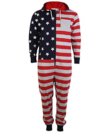 Adults Tokyo Laundry Dez American Flag Print Hooded USA All In One Mens  Womens Loungewear Jumpsuit at Amazon Men s Clothing store  6f5d2d9743