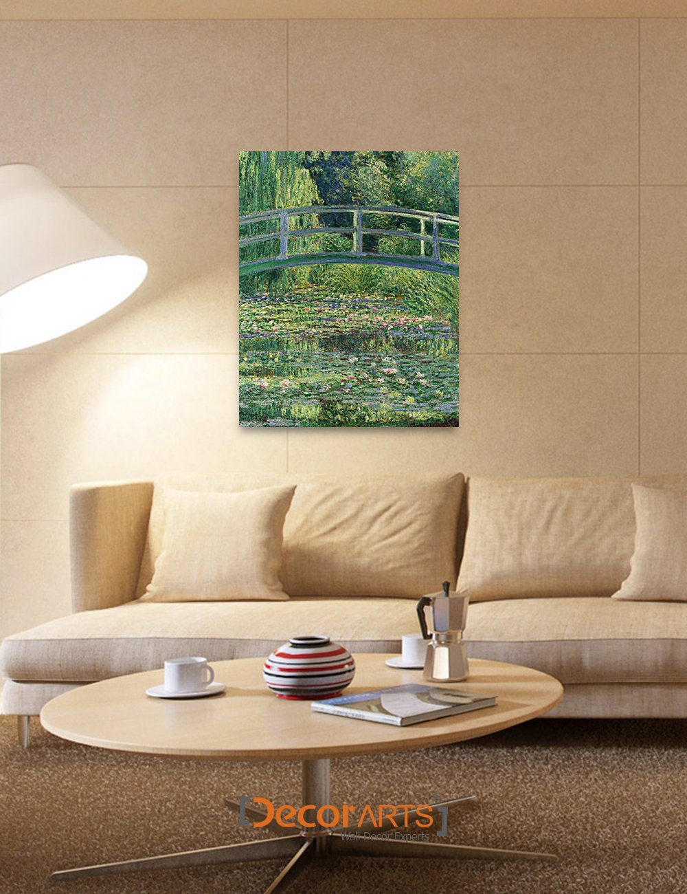 DECORARTS Japanese Water Lily Painting Reproduction Image 2