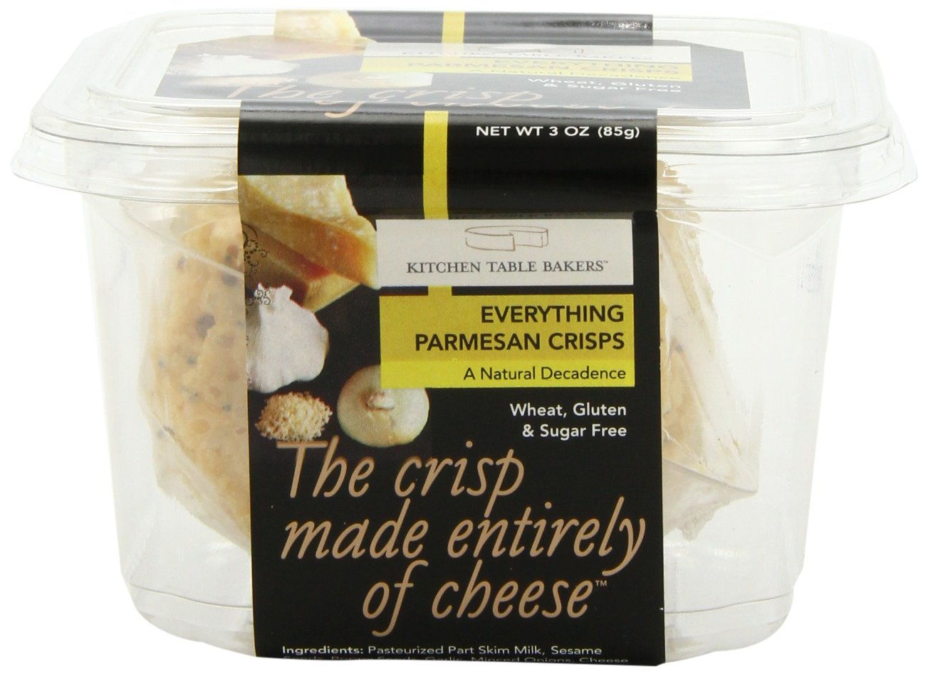 Kitchen Table Bakers Everything Parmesan Parmesan Crisps, 3-Ounce Packages (Pack of 4)